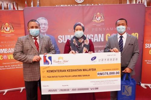 Majlis Penyerahan Sumbangan COVID-19 kepada Kementerian Kesihatan Malaysia